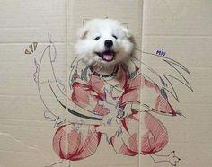 it's who you are : deathbyflail: Inuyasha by Samoyed Overload Inuyasha Funny, Inuyasha Fan Art, Inuyasha Cosplay, Inuyasha And Sesshomaru, Kagome And Inuyasha, Otaku Problems, Memes, Kirara, Dog Breath