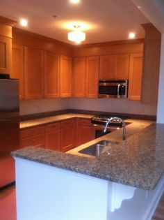 Maple wood with Butterscotch stain by Oceanside Cabinets