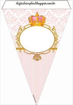 Princess Theme Party, Baby Shower Princess, Pink Princess, Princess Birthday, Apple Birthday, Free Printable Banner, Paper Gift Box, Bunting Flags, Baby Girl Birthday