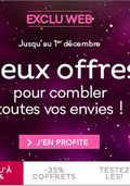 Catalogue Nocibé Deux offres pour combler vos envies du vendredi 28 novembre 2014 au lundi 1 décembre 2014 ( 28/11/2014 - 01/12/2014 )