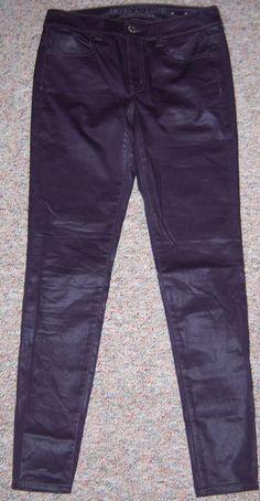 AMERICAN EAGLE Dark Plum Color Slim Skinny Leg High Rise Jegging Pants Size 4 #AmericanEagleOutfitters #Leggings