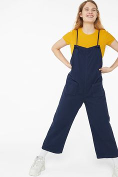f2906b223a7c These darling denim dungarees are made from 100% organic cotton have the  cutest thin shoulder