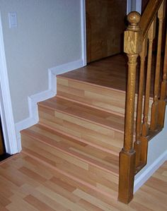 how to cut laminate flooring around stair spindles