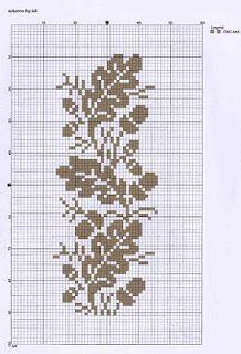 Acorns & oak leaves in one colour - cross stitch or fairisle :o)