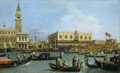 Canaletto (Venice 1697-Venice 1768), The Bacino di San Marco on Ascension Day, c.1733–4. Oil on canvas, 76.8 x 125.4 cm, RCIN 404417, Royal Collection Trust/ © Her Majesty Queen Elizabeth II 2016