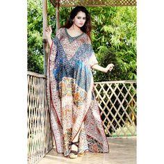 100% Silk kaftan embellished beaded beach Resort wear 62 Silk Kaftan, Two Piece Dress, Resort Wear, Designer Collection, Kimono, Fabrics, Tunic, Fancy, Beach