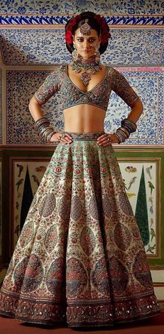 Considering a Sabya lehenga for your wedding? Well, you can add a lot more to consider to your list! So Sabyasachi dropped his newlatest couture collection 'Kesaribai Pannalal' last night, which, as. Lehenga Designs, Indian Bridal Wear, Indian Wear, Indian Dresses, Indian Outfits, Sabyasachi Collection, Hijab Style, Indian Designer Outfits, Indian Couture
