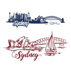 Australia Sydney Skyline with Opera House and Habour Bridge SVG Cuttable Designs Australia Tourist Attractions, Skyline Silhouette, Silhouette Cameo, Tattoo Sydney, Bridge Tattoo, Architecture Drawing Sketchbooks, Sydney Skyline, Skyline Painting, Embroidered Towels
