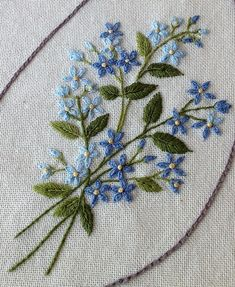 forget me not embroidery J.M   Linha