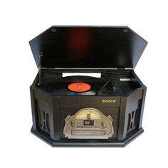 7-in-1 Boytone BT-15TBSB Classic Turntable Stereo System, Vinyl Record Player, AM/FM, CD, Cassette, USB, SD slot. 2 Buil | Jet.com
