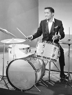 Sammy Davis Jr. on drums. Sammy had many talents and drummer was only one of them.