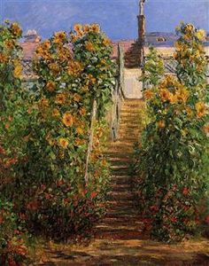 The Steps at Vetheuil - Claude Monet