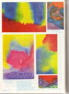 Crayon Drawings, Chalk Drawings, Wet On Wet Painting, Colors Drama, Chalkboard Drawings, Early Childhood, Paint Colors, Red And Blue, Watercolor Paintings