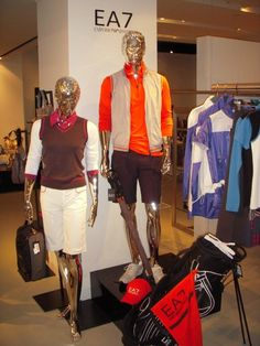 EA7 #Armani Golf Collection in 2010! Trendy Golf, Golf Wear, Golf Fashion, Golf Outfit, Display Ideas, Hugo Boss, Favorite Things, Leather Jacket, Italy