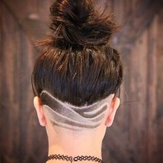 These wondrous waves. | These Pretty Neck Designs Will Give Your Undercuts New Life