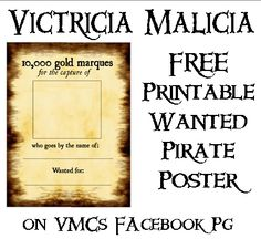 Free Printable WANTED Poster Just Click The FREE LOOT Button Here