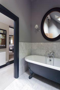 Hmm. Mirror over the bath tub? I think I like it.