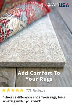 Soften your rugs and protect your floors with a quality rug pad. Made in the USA with the best materials available & custom cut to fit your rug. Home Improvement Projects, Home Projects, Just In Case, Just For You, Home Remodeling, Bathroom Renovations, Bathroom Ideas, Family Room, Sweet Home