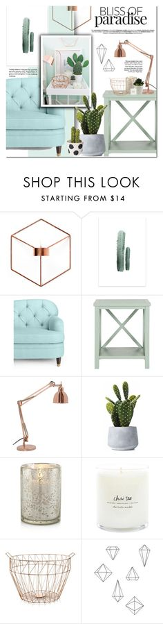 """Mint home decor"" by dian-lado ❤ liked on Polyvore featuring interior, interiors, interior design, home, home decor, interior decorating, Menu, Kate Spade, Home Design Studio and Umbra"