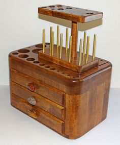 Fly Tying Tool Caddy, Fly Tying Caddy, Fly Tying Bench, Fly Tying Desk, Fly Fishing, Tool Caddy. $200.00, via Etsy.