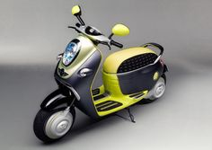 MINI has unveiled retro-futuristic conceptual model of electric-powered scooter called MINI E Scooter Concept. This concept shares traditional MINI design: these are typical large speedometers and oval mirrors, Mv Agusta, Vintage Harley Davidson, Ducati, Mobiles, Estilo Cafe Racer, Diesel, Porsche, Honda, Automobile