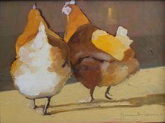 2 Hens in Sun
