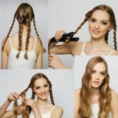 Die 17 Besten Bilder Von Haare Ohne Lockenstab Wellen Hair Ideas