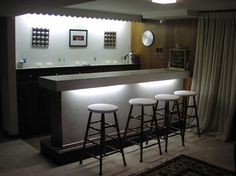 Redesigned Art Decor-Inspired Bar - modern - family room - dc metro - by Tina Clarke