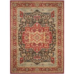 Safavieh Mahal Red/ Red Rug (9' x 12') - Overstock™ Shopping - Great Deals on Safavieh 7x9 - 10x14 Rugs