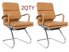 Classic Replica visitors chair - CAMEL Vegan leather, thick high density foam, Chrome arms with protective arm sleeves with zip available. Sold in a box of TWO chairs. Chairs For Bedroom Teen, Living Room Chairs, Greenhouses For Sale, Chair Leg Floor Protectors, Childrens Rocking Chairs, Conference Chairs, Ikea Chair, Buy Chair, Chairs For Sale