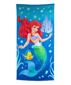 look at this zulilyfind blue the little mermaid beach towel zulilyfinds