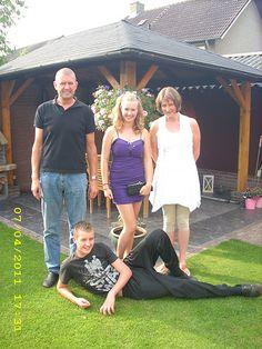 Mijn gala en mijn gezin met papa mama en bram