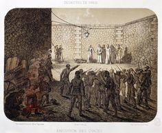 France 19th century Paris Commune Insurgents execute hostages at La Roquette…