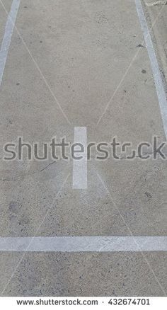 Concrete floor with number one with light and shadow - stock photo