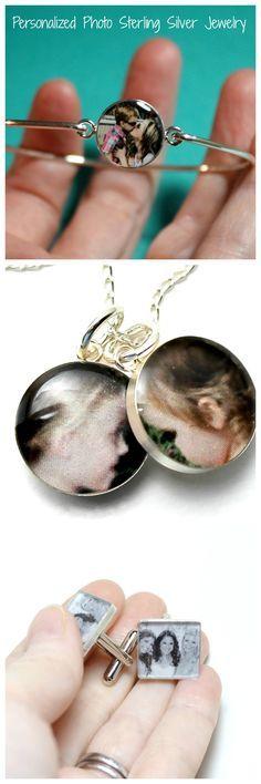 Personalized Keepsake Photo Jewelry #fathersdaygifts