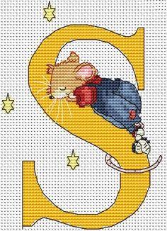 Seraphina Alphabet Letter S Cross Stitch Kit | sewandso