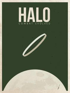 Halo : Halo Combat Evolved : Minimalist Poster