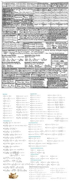 If you need a note card for Integral Calculus - Imgur