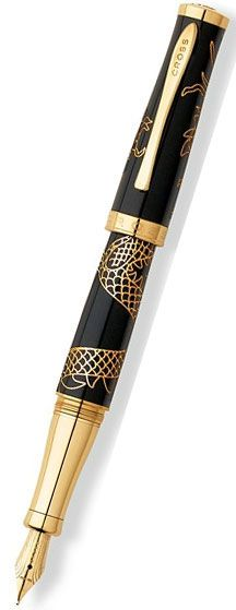 Cross 2012 Year Of The Dragon Special Edition Fountain Pen Black Lacquer. Now $320
