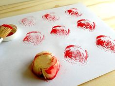 Who knew Swiss chard makes perfect rose stamps?