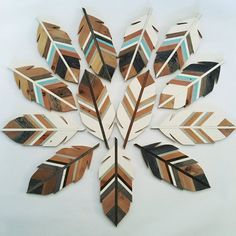 10 DIY Home Projects To Make Your Home Look Classy In 2017 - Craft Coral art diy art easy art ideas art painted art projects Feather Wall Art, Metal Tree Wall Art, Wooden Wall Art, Diy Wall Art, Metal Art, Wood Art, Wooden Feather, Woodworking Classes, Woodworking Crafts