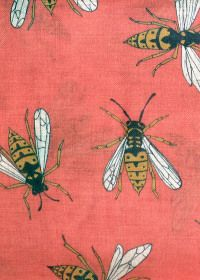≗ The Bee's Reverie ≗   Red Brick: Bee scarf by Karen Mabon