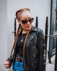 Fake Hair Braids, Two Cornrow Braids, Cornrows With Weave, Ghana Cornrows, Cornrow Ponytail, Damp Hair Styles, Natural Hair Styles, Black Cornrow Hairstyles, Hair Icon