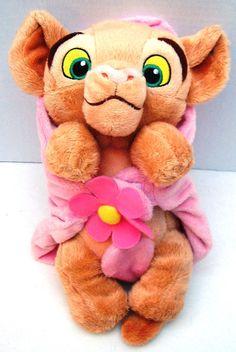 Disney Lion King Plush Baby Nala Purrs Pink Flower Security Blanket Purring #Disney #PurringBabyNala