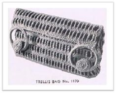 TRELLIS BAG CROCHET PATTERN #1549