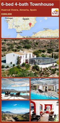 Townhouse for Sale in Huercal Overa, Almeria, Spain with 6 bedrooms, 4 bathrooms - A Spanish Life Pull Down Blinds, Horse Paddock, Portugal, Sky Tv, Enclosed Patio, Shower Cubicles, Central Heating, Cafe Bar, Double Bedroom