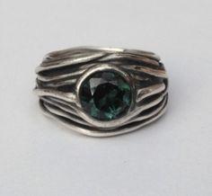 Ring Zilver met groene Toermalijn