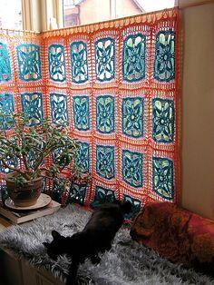 Crochet Window Covering: Inspiration!!! #crochet
