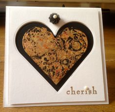 Heart card made with gilding flakes