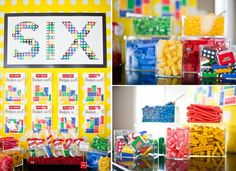 Anders Ruff Styled Lego Inspired Birthday Party candy Bar